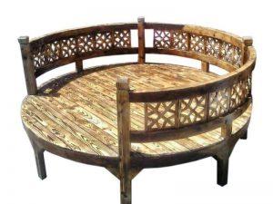تخت سنتی گرد TrK23A5